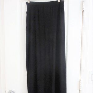 Worthington Skirts - Black Maxi Skirt Ruched Side Perfect Condition
